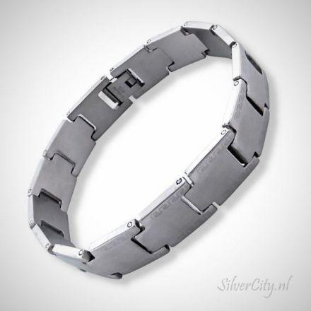 Afbeeldingen van Chirurgisch roestvrijstalen heren armband Tagged 20 cm