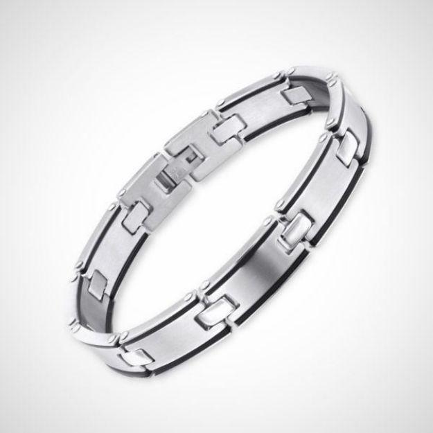Afbeeldingen van Chirurgisch roestvrijstalen heren armband schakel 22 cm