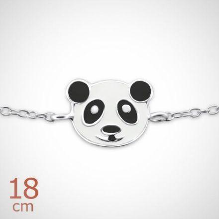 Afbeeldingen van 925 sterling zilveren kinderarmband met panda