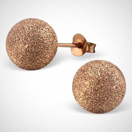 Afbeeldingen van Rose goud plated zilveren bal oorknoppen
