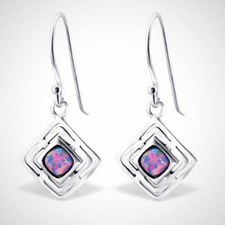 Afbeeldingen van Zilveren oorhangers - opaal - dames - multi lavender