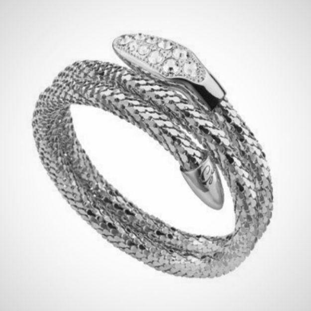 Afbeeldingen van Guess Jewellery Wikkelarmband - Messing zilverkleurig PVD - UBB81337