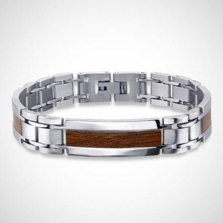 Afbeeldingen van 316L Chirurgisch roestvrij staal heren armband vlakte 21 cm