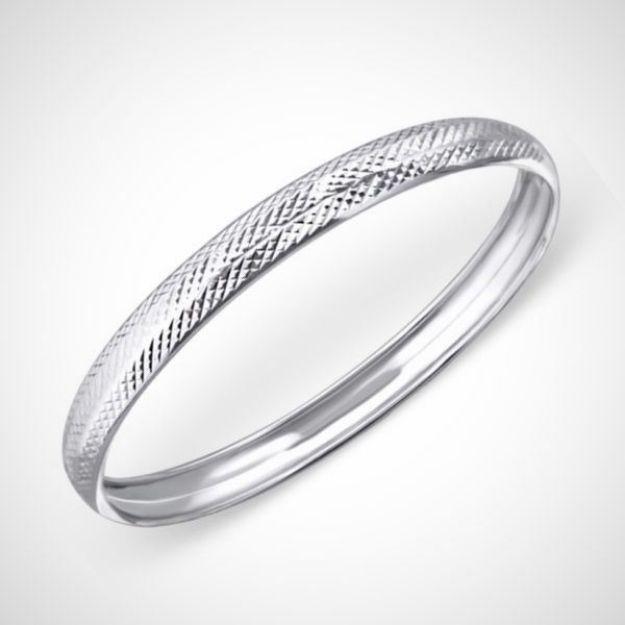 Afbeeldingen van Zilveren armband - rond met motief