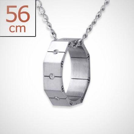 Afbeeldingen van Ring - 316L chirurgisch roestvrij staal ketting met ring