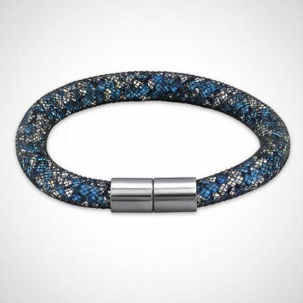 Afbeeldingen van Armband - Stardust Crystal Tube - zilver/blauw