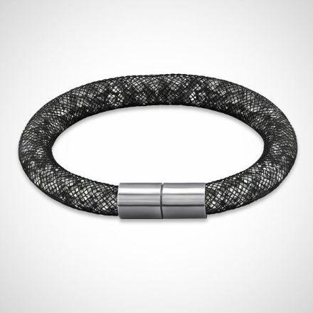 Afbeeldingen van Armband - Stardust Crystal Tube - zilver/zwart