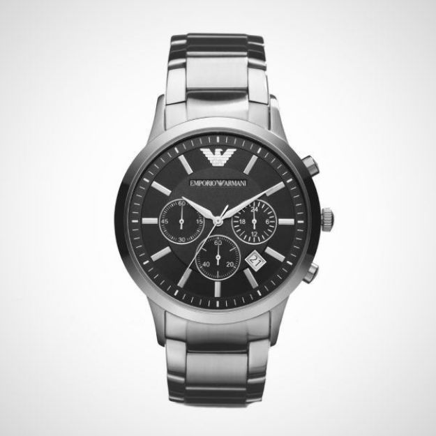 Afbeeldingen van Emporio Armani horloge AR2434 Renato - Staal - Zilverkleurig - Ø 43 mm