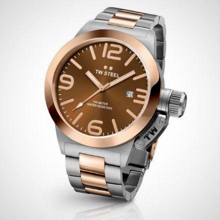 Afbeeldingen van TW Steel CB152 Canteen Bracelet Collection - Horloge - Staal - 50 mm - Zilverkleurig