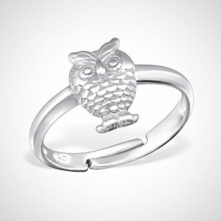 Afbeeldingen van 925 sterling zilveren ring - uil