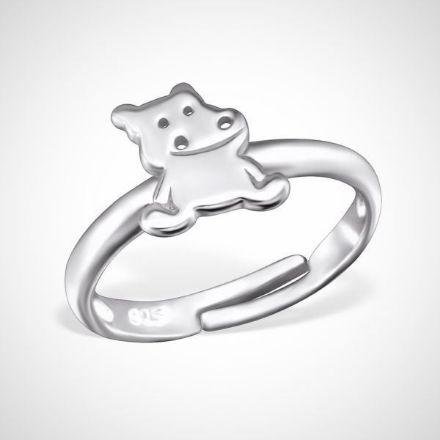 Afbeeldingen van 925 sterling zilveren ring - nijlpaard