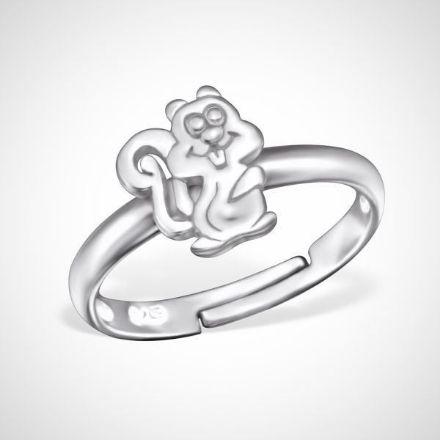 Afbeeldingen van 925 sterling zilveren ring met eekhoorn