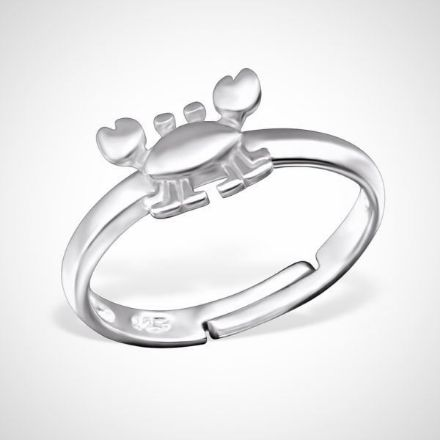 Afbeeldingen van 925 sterling zilveren ring - krab
